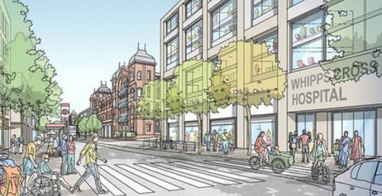 Architect's illustration of new hospital design