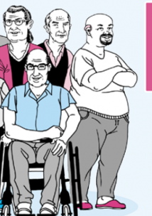 A group of people with various disabilities
